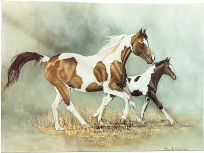 Horses Painting - Painted Horses by Syndi Michael