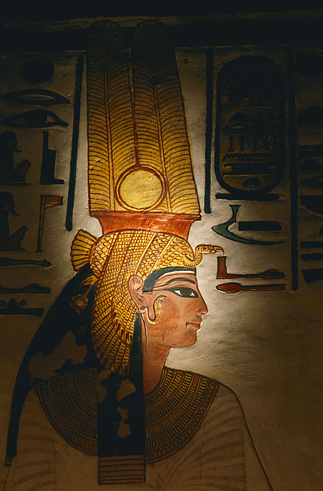 Relief Sculpture Photograph - Painted Relief, Nefertari Tomb, Valley by Kenneth Garrett