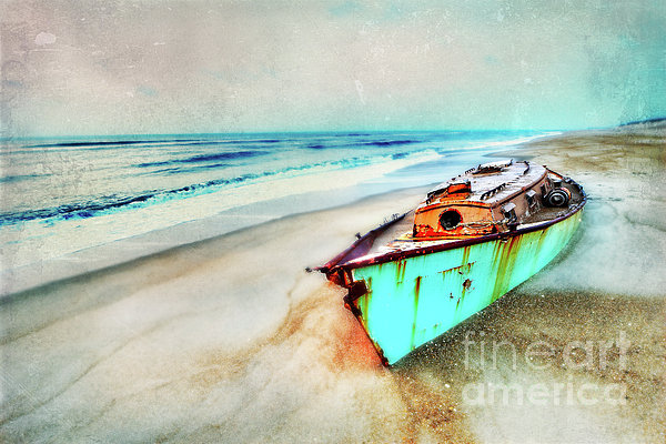 Outer Banks Painting - Painted Shipwreck On The Outer Banks II by Dan Carmichael