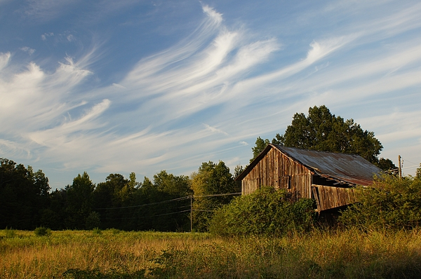 Barn Photograph - Painted Sky Barn by Benanne Stiens