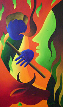 Painting Painting - Painting 8 by Aashish Kataria