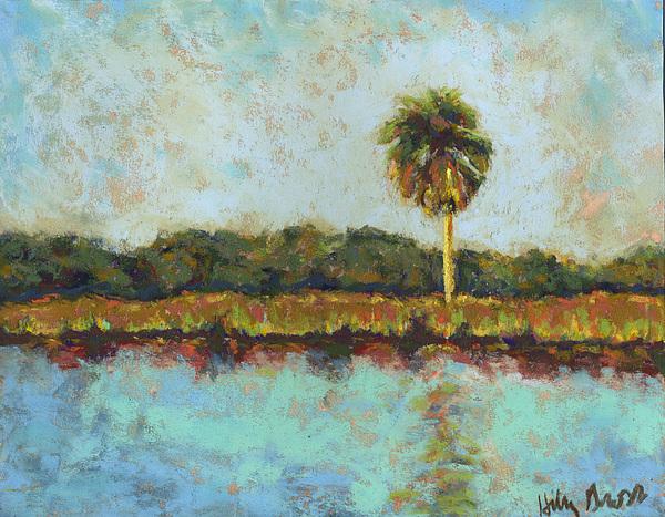 Landscape Pastel - Palm On Spruce by Hillary Gross