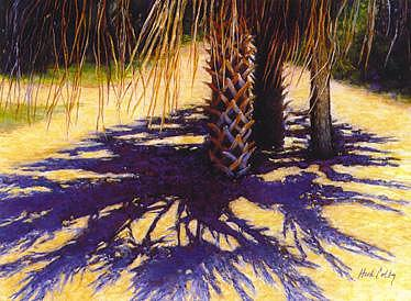 Palm Shadows Painting by Ruth Hook Colby