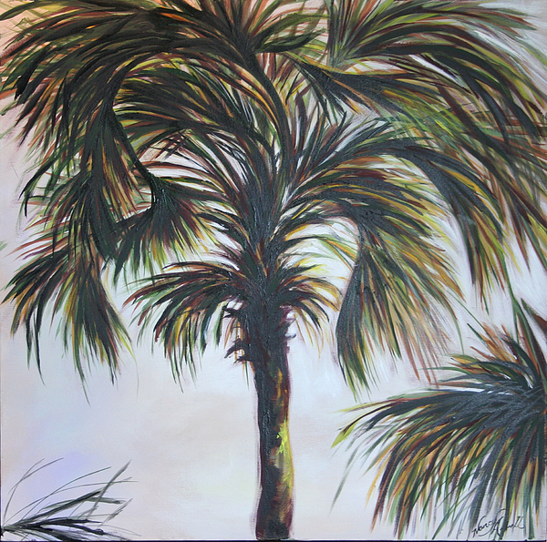 Palm Painting - Palm Silhouette by Michele Hollister - for Nancy Asbell