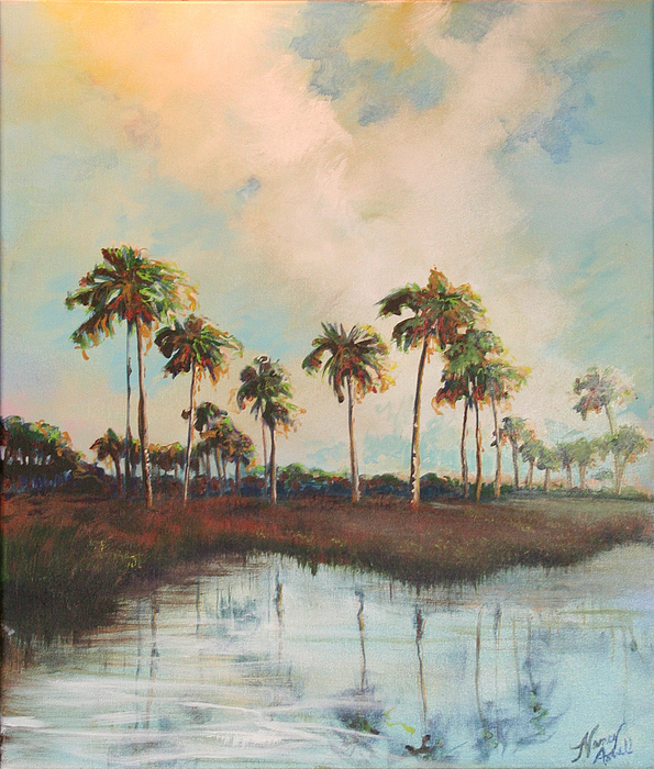 Golf Course Painting - Palms Of Course by Michele Hollister - for Nancy Asbell