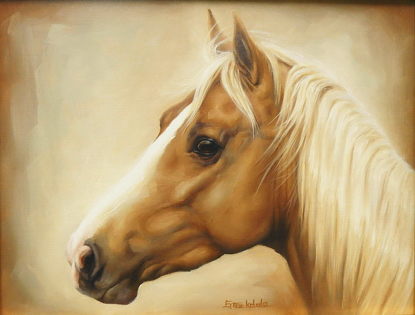Equine Painting - Palomino by Margaret Stockdale
