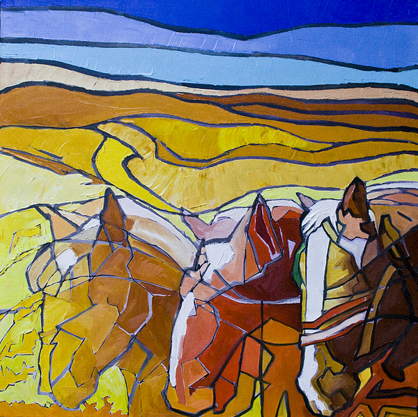 Horses Painting - Palouse Trio by Gregg Caudell