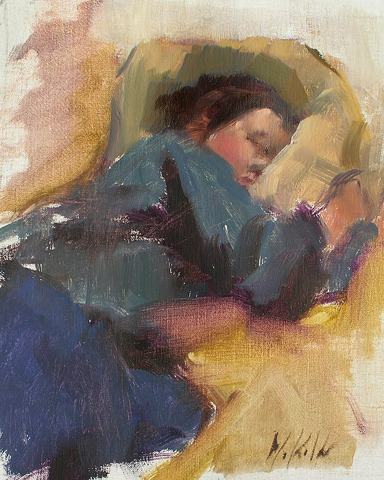 Figurative Painting - Pam Resting by Merle Keller