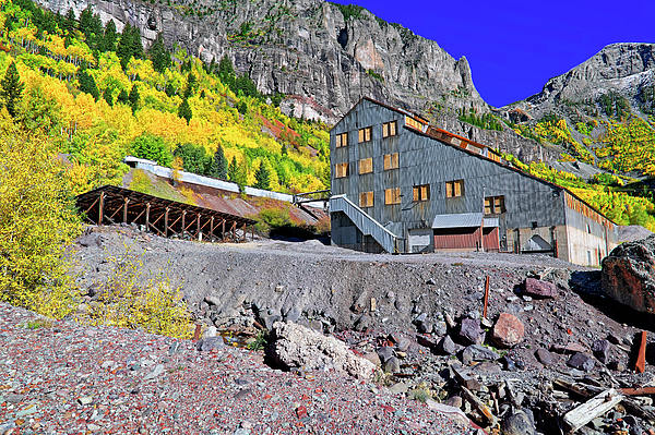 Telluride Photograph - Pandora Mill - Telluride - Colorful Colorado by Jason Politte