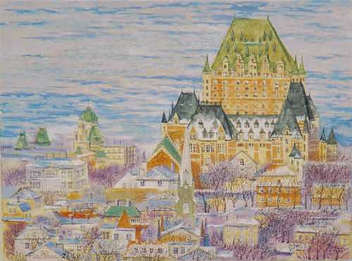 Cityscape Painting - Panorama Of Quebec.2004 by Natalia Piacheva