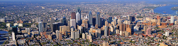 Philadelphia Photograph - Panoramic Philly Skyline Aerial Photograph by Duncan Pearson
