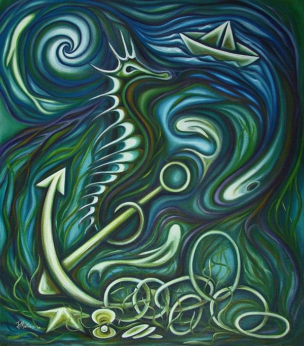 Parable To Yemaya Painting by Javier Martinez