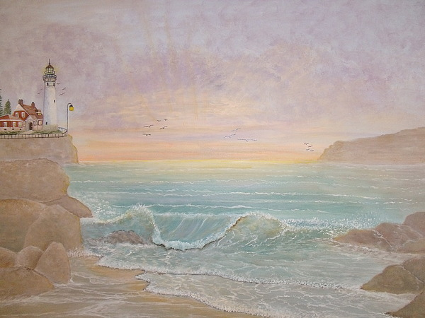 Lighthouse Painting - Paradise by Patti Lennox