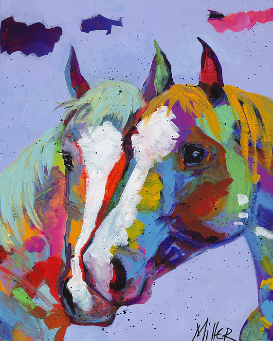 Tracy Miller Painting - Pardners by Tracy Miller