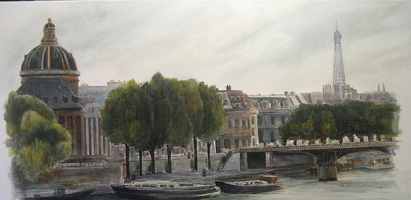 Paris Painting - Paris Across The Seine by Victoria Heryet
