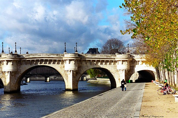 Paris Photograph - Paris Bridge 0523 by PhotohogDesigns