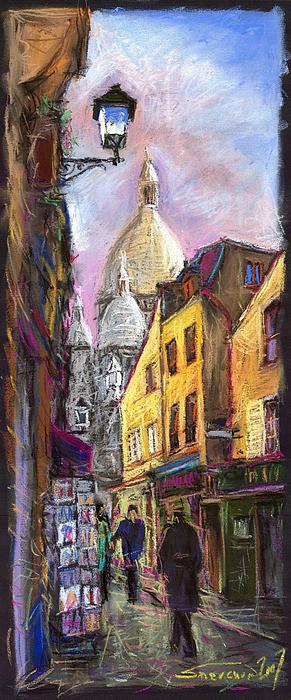 Cityscape Pastel - Paris Montmartre 2 by Yuriy Shevchuk