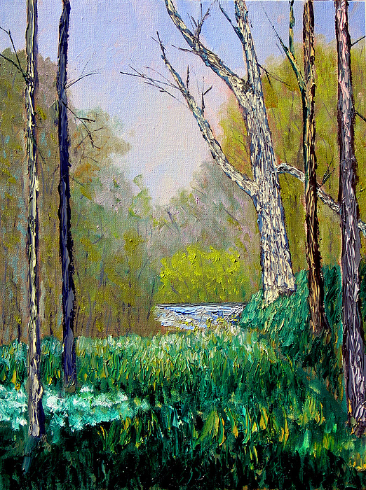Trees Painting - Park Meadow by Stan Hamilton
