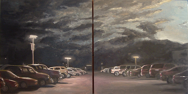 Parking Lot Painting - Parking Lot by Scott Lyle
