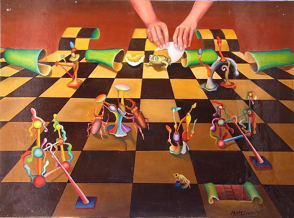 Surreal Painting - Parque De Atracciones by Moresmont