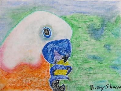 Parrot Celebrating Life Painting by Billy Shaw