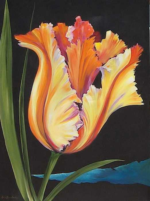 Painting Painting - Parrot Tulip by Stan  Sternbach