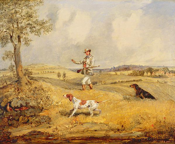 Partridge Photograph - Partridge Shooting  by Henry Thomas Alken