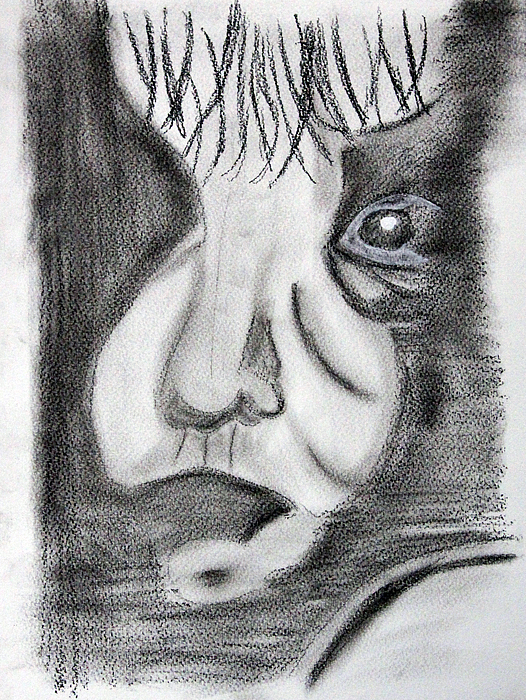 Face Drawing - Parts Of Face by Ruedi M