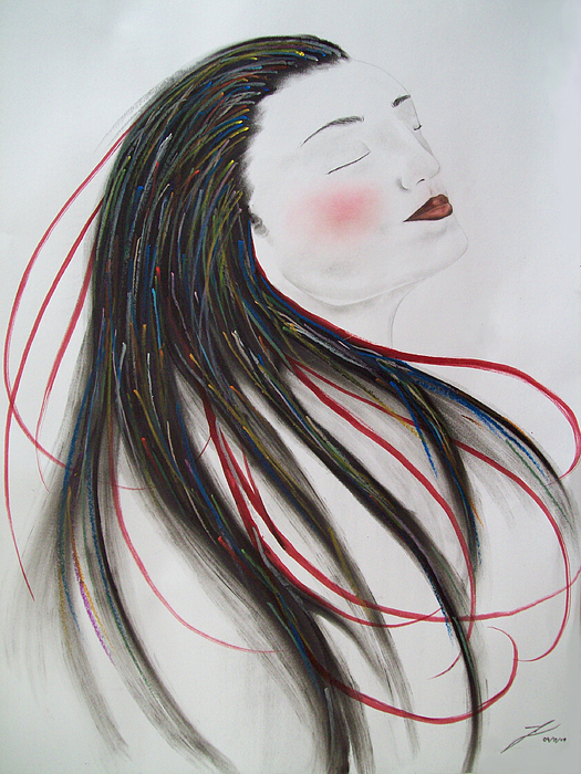 Native Mixed Media - Passion by Justin D B