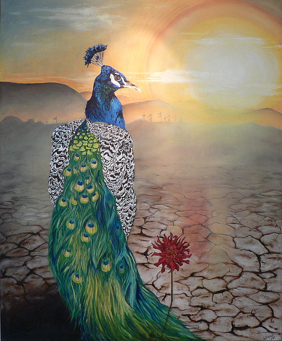 Surreal Painting - Past Present Future by Winona Johnson