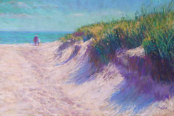 Pastel Painting - Past The Dunes by Michael Camp