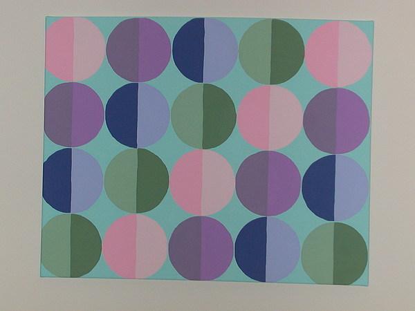 Blue Painting - Pastel Cirles by Gay Dallek