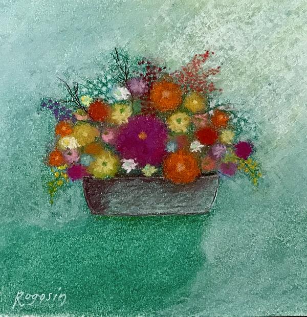 Still Life Pastel - Pastel Flowers by Harvey Rogosin
