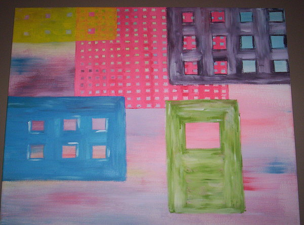 Squares Painting - Pastel Life by Becca Haney