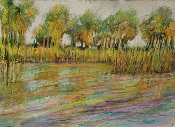 Palms Painting - Pastel Palms by Michele Hollister - for Nancy Asbell