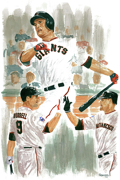 Pat Burrell Painting - Pat Burrell Study 2 by George  Brooks