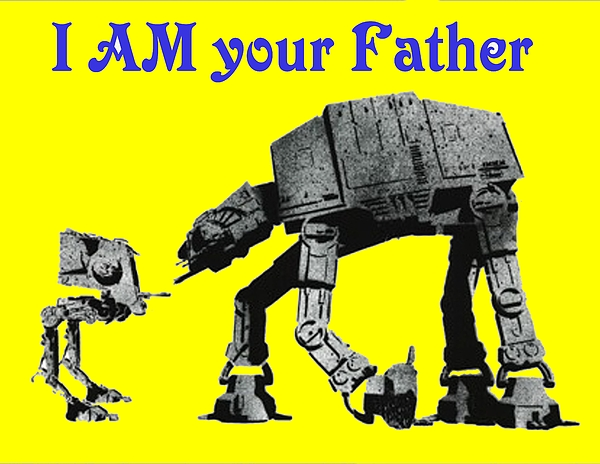 Star Wars Painting - Paternal Declaration by Paul Van Scott