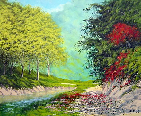 Landscape Painting - Path In The Forest by Antonio Gomes Comonian