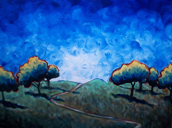 Park Painting - Path Through Las Trampas by Sheila Tajima
