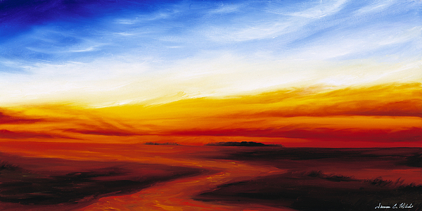 Sunrise Painting - Path To Redemption by James Christopher Hill