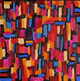 Abstract Painting - Pattern 3 by Mary Silver