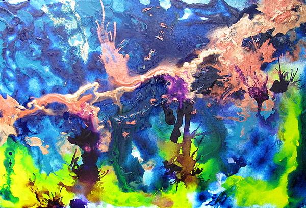 Blue Painting - Paulette by Jess Thorsen