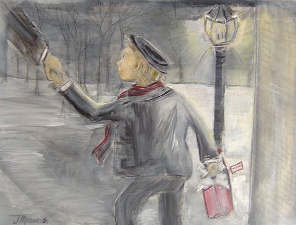 Child Painting - Pauleys Present by Jessica Mason
