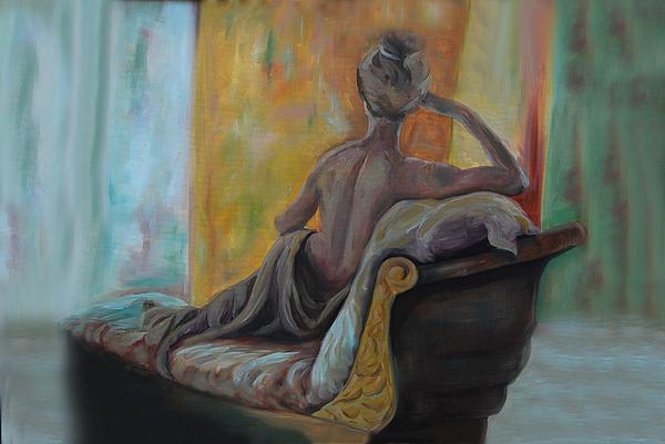 Nude Back Painting - Pauline by Nancy Bradley