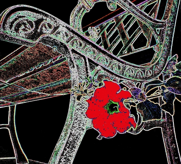 Bench Digital Art - Pause To Contemplate 1 by Will Borden