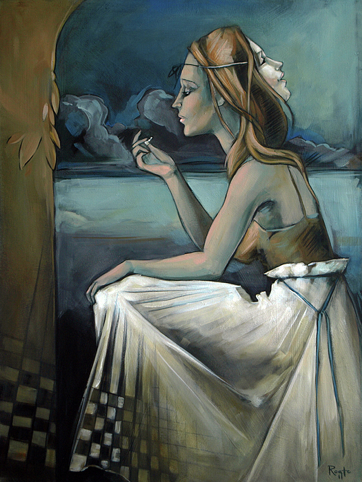 Chess Painting - Pawn For The Prince Of Darkness by Jacque Hudson