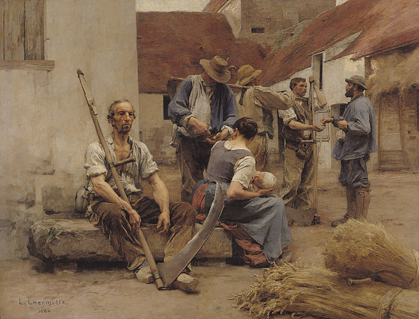 The Painting - Paying The Harvesters by Leon Augustin Lhermitte