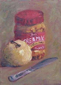Pb Painting - Pb And Apple by Julieanne Nielsen