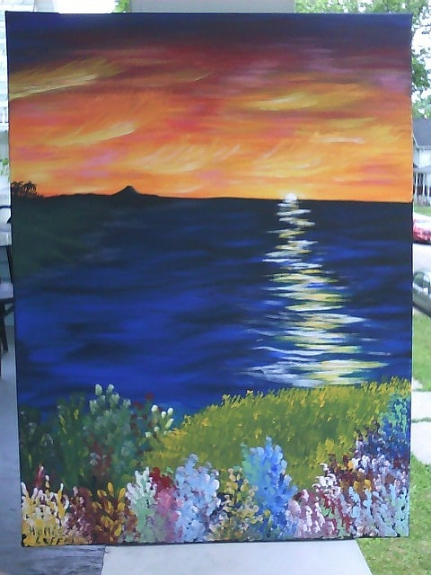 Sea Painting - Peace.. by Hollie Leffel