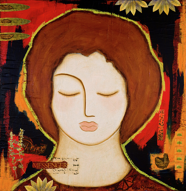 Icon Painting - Peace Messenger by Gloria Rothrock